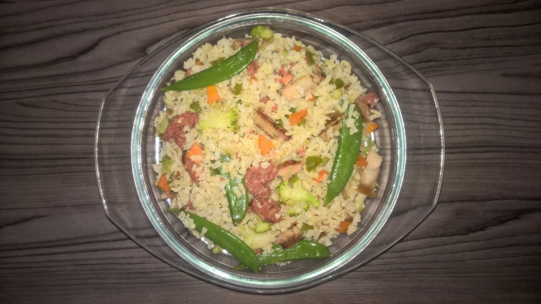 leftover barbeque fried rice